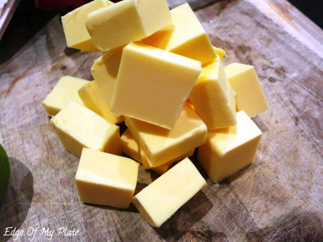 butter cubes for hollandaise sauce